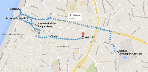Antwerp Walking Map