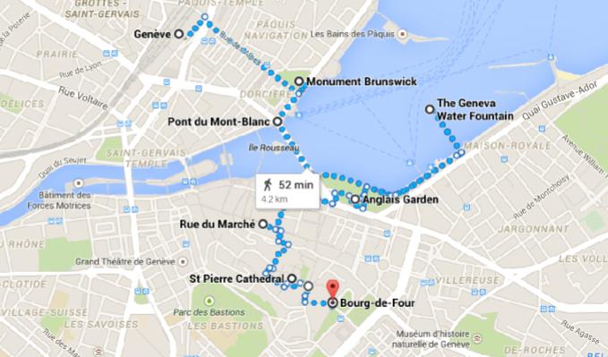 Geneva Walking Map