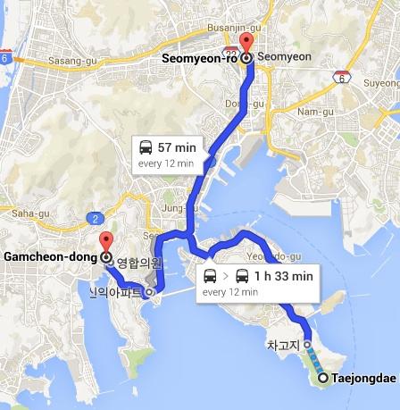 South Busan Map